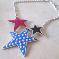 SALE Large Star Statement Necklace