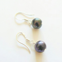 SALE 50% Off TODAY Peacock Freshwater Pearl Drop Earrings