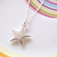 Large Sterling Silver Star Pendant