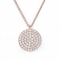 Rose Gold and CZ Circle Pendant