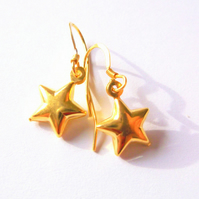 22K gold Vermeil Star Drop Earrings