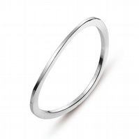 LAST ONE LEFT. SALE!. Silver Plate Curve Bangle Offer