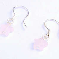 Rose Quartz Mini Stars Earrings