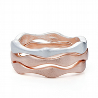 Rose Gold, Gold and Silver Plate Stacking Rings