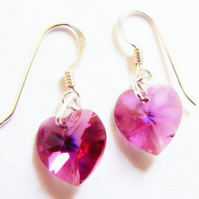 Swarovski Crystal Fuschia Pink AB  Earrings