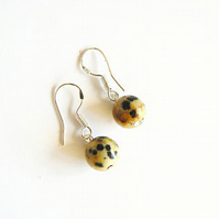 Dalmation Jasper Drop Earrings