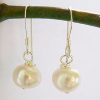 Ivory Freshwater Pearl Drop Earrings