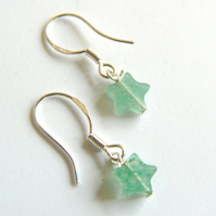 Aventurine Mini Star Drop Earrings