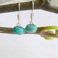Turquoise Roundelle Drop Earrings