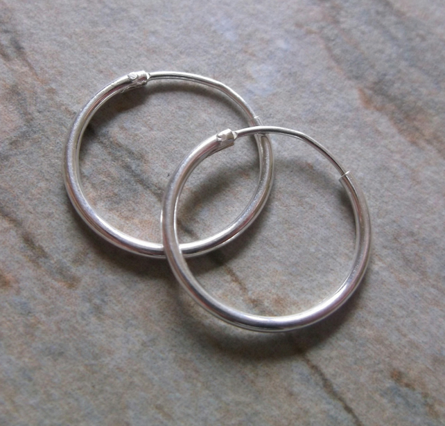 Sterling Silver 16mm Hoop Earrings