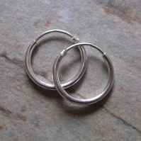 Small 12mm Sterling Silver Hoop Earrings
