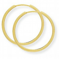 20mm 14ct Gold Hoop Earrings