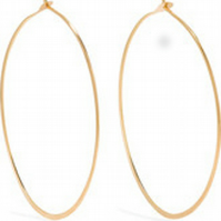 22K Gold Vermeil 30mm Hoop Earrings
