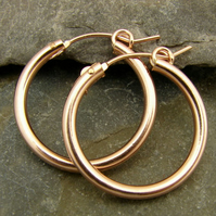 . Rose Gold Filled Hoop Earrings 18mm