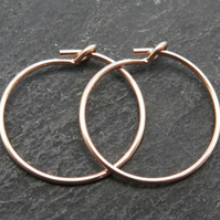 15mm Rose Gold Filled Hoop Earrings