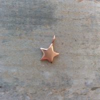 Rose gold vermeil puffed star charm