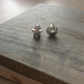 Silver Plate Star and Moon Stud Earrings