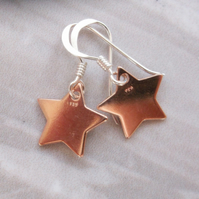 Rose Gold Vermeil Star Drop Earrings