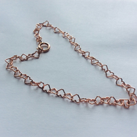 Rose Gold Vermeil Heart Chain Bracelet