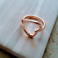 One Off Rose Gold Heart Cocktail Ring