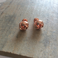 SALE Rose Gold Plated Brass Knot Stud Earrings, only one pair