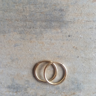 12mm Gold Filled Hoop Earrings