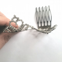 Crystal Crown Hair Combs