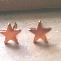 Rose Gold Plate Star Stud Earrings
