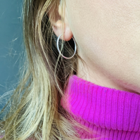 25mm Sterling Silver Hoop Earrings