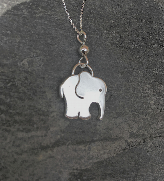 Elephant Necklace in Sterling Silver