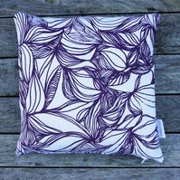 Grape 'Flow' Screen printed cushion