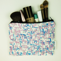 3 colour screen printed pouch bag