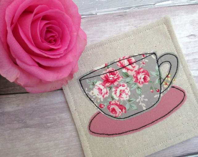 Fabric Coasters - Shabby Chic Coasters - Country Chic