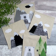Handmade Decorative Coasters - Nature Lovers Gift - Fabric Coasters