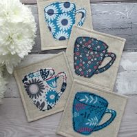 Fabric Mug Coasters, Coffee Coasters