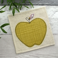 Fabric Coaster, Thank You Gift,  Apple Coaster