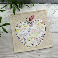 Apple Coaster - Fabric Coaster - Thank You gift