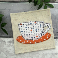 Textile Coaster, Father's Day Gift