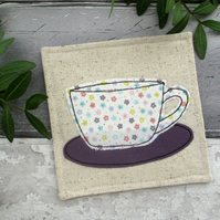A Cup Coaster, Gift For A Tea Lover