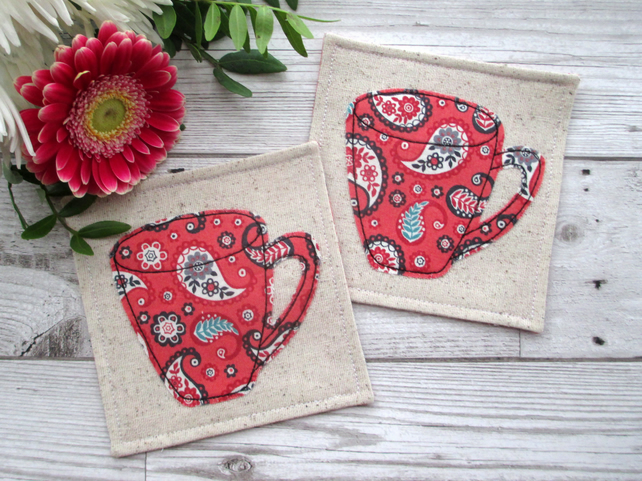 Fabric Coasters, Coffee Coasters