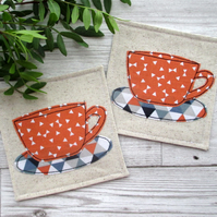Bright & Bold Cup Coasters, Fabric Coasters