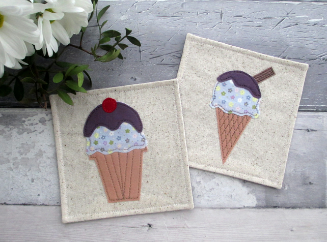 Fabric Ice Cream Coasters
