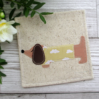 Mini Dachshund Coaster, Gift For A Dog Lover