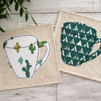 Fabric Coasters, Cactus Decor