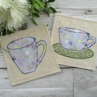 Pretty Fabric Coaster Set