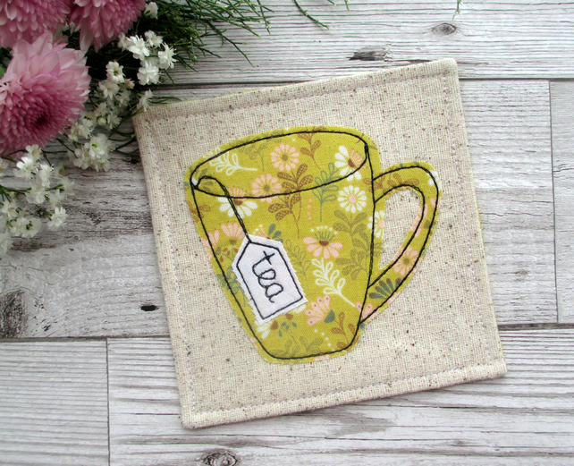 Fabric Tea Mug Coaster