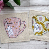 Pretty Floral Tea Coasters