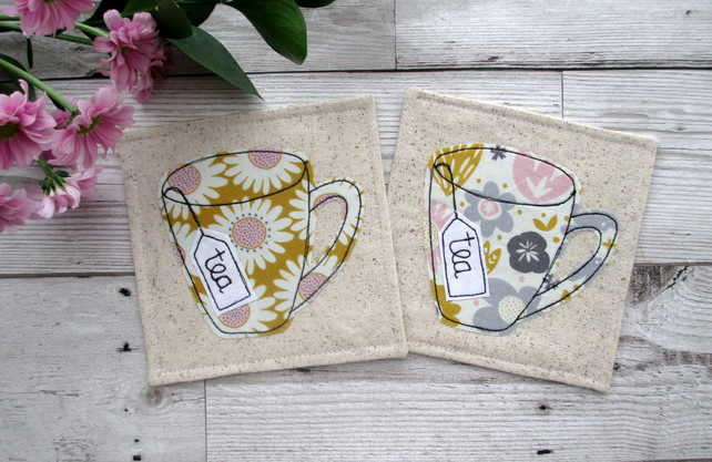 Tea Coasters, Fabric Coasters