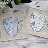 Floral Tea Coasters, Gift For A Tea Lover