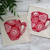 Christmas Coasters, Fabric Coasters